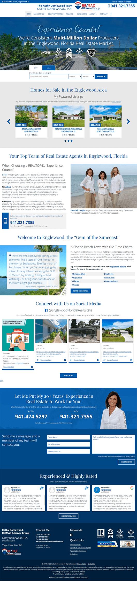 Kathy Damewood, PA website design